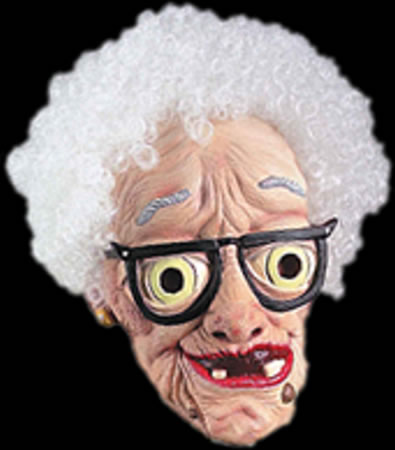 This is just a mask. But it does look like my grandma